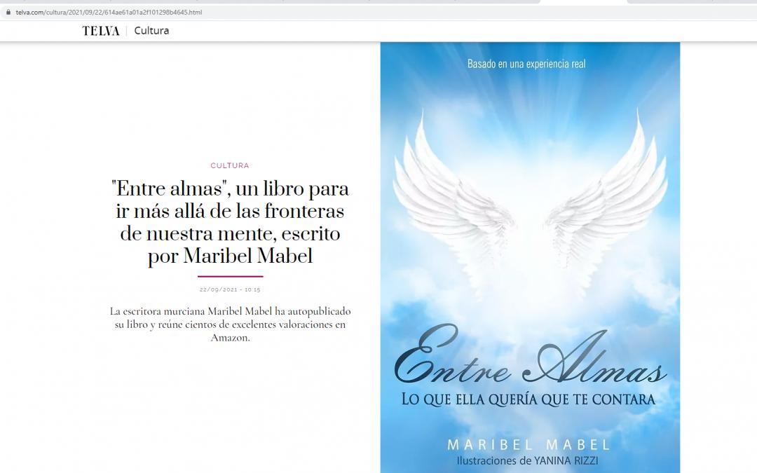 La revista Telva dedica un reportaje al libro Entre Almas de Maribel Mabel.